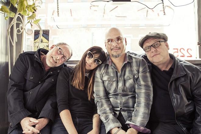 The Pixies, from left: David Lovering, Paz Lenchantin, Joey Santiago, and Black Francis. - TRAVIS SHINN