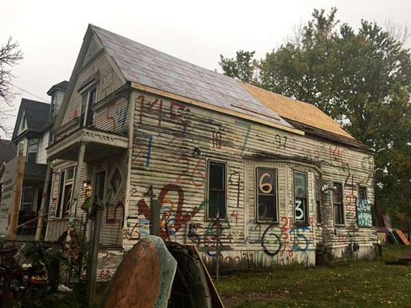 "The Heidelberg Project's ""Numbers House"" is undergoing renovation. - COURTESY PHOTO - HEIDELBERG PROJECT"
