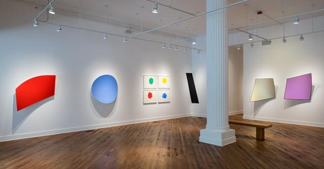 Matthew Hawtin's work, currently on view at the David Klein Gallery. - R.H. HENSLEIGH