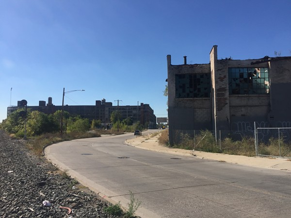 St. Aubin and Clay streets, near the location of the most recent Oct. 8 abduction in Hamtramck. - VIOLET IKONOMOVA