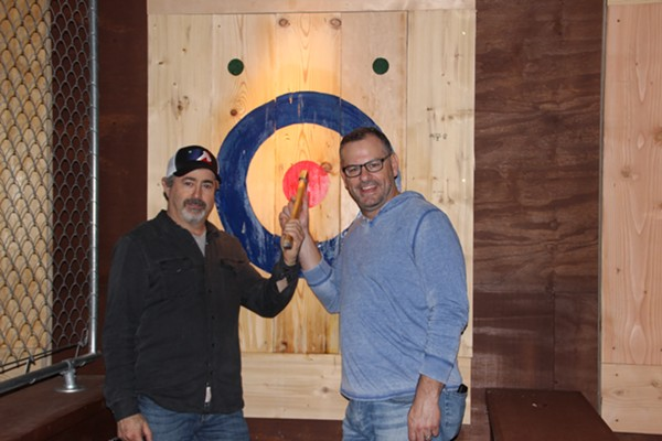 Detroit Axe owners Brian Siegel and Geoff Kretchmer. - COURTESY PHOTO