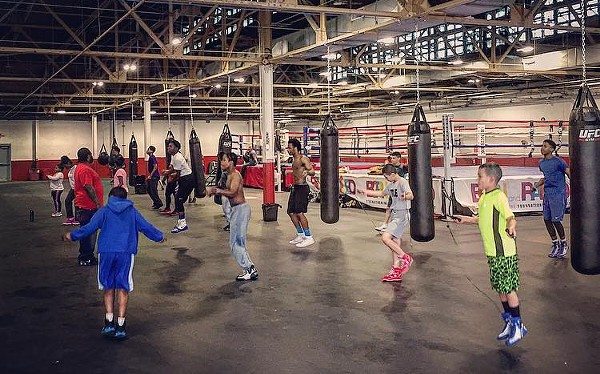 Children at Detroit's Downtown Boxing Gym. - COURTESY PHOTO