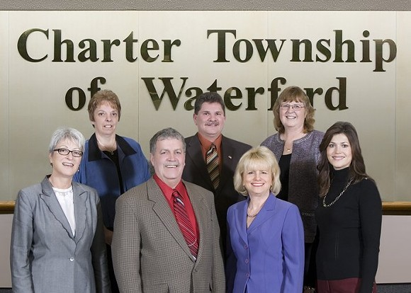 The Waterford Township board of trustees that voted against welcoming Syrian refugees to their community. - PHOTO COURTESY CHARTER TOWNSHIP OF WATERFORD