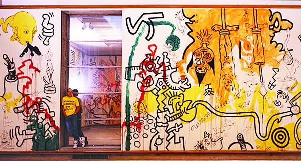 Keith Haring at Cranbrook Art Museum, 1987. - PHOTO BY TSENG KWONG CHI