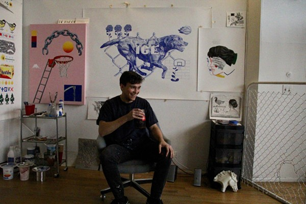 Danny Sobor inside his Eastern Market studio. - SARA BARRON