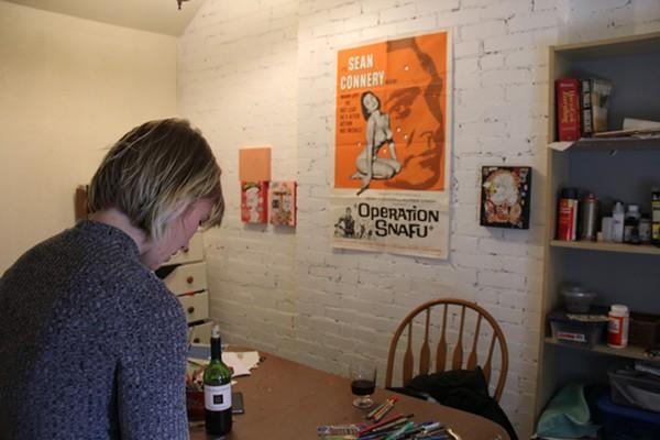Cahill in her studio.