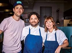 Lovers Only chef Justin Tootla, owner Eli Boyer, and chef Jennifer Jackson. - COURTESY PHOTO