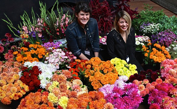 Lisa Waud (left) and Haley Lertola during Detroit Flower Week. - SARAH ROSE SHARP