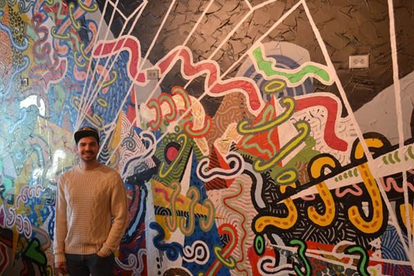 Joey Salamon created an all new mural for the restaurant. - ALYSA ZAVALA-OFFMAN