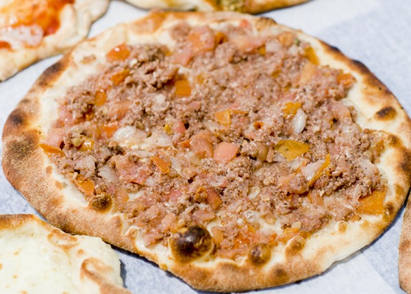 """Manoush with """"leopard spotting"""" on the crust. - TOM PERKINS"""