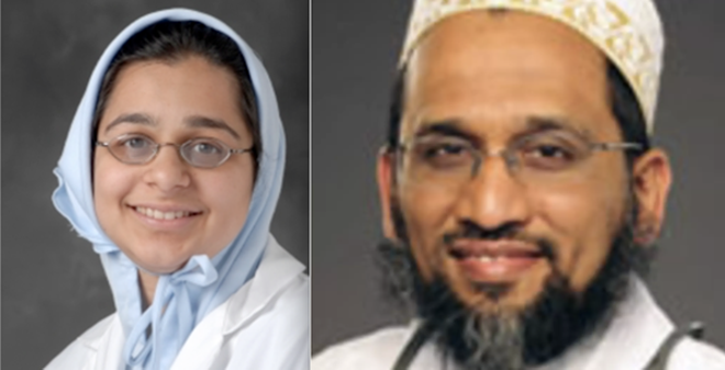 Dr. Jumana Nagarwala (left) and Dr. Fakhruddin Attar (right) along with Attar's wife, are accused of female genital mutilation. - PHOTOS VIA HENRY FORD HEALTH SYSTEM AND ST. JOSEPH MERCY HEALTH SYSTEM, RESPECTIVELY