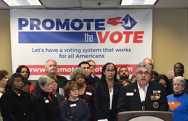 A broad coalition including the ACLU of Michigan, the League of Women Voters, the state and Detroit branches of the NAACP, and others launched a campaign Monday to bring comprehensive election reform to Michigan through a ballot initiative. - COURTESY PHOTO