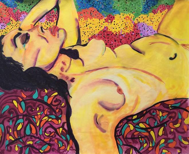 "Callie Nazzpuller, ""Another Head 1."" Acrylic on canvas. - COURTESY PHOTO"