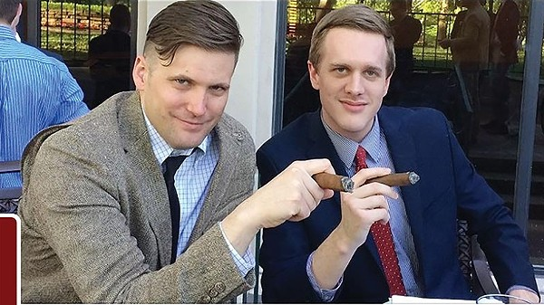 White nationalist Richard Spencer and alt-right attorney Kyle Bristow (right). - PHOTO VIA TWITTER