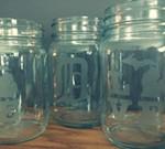 Ladies Art Night Glass Etched Mason Jars