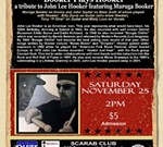 """The detroit Blues heritage Series presents """"Booker plays Hooker"""""""
