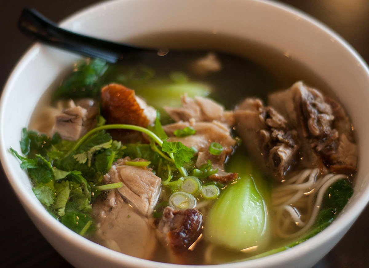 Roast duck noodle soup.