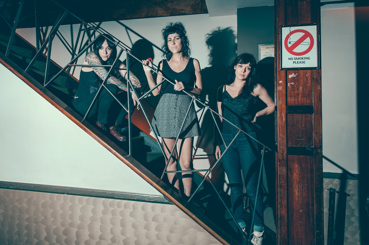 From left: Stephanie Luke, Meredith Franco, and Julia Kugel of the Coathangers.