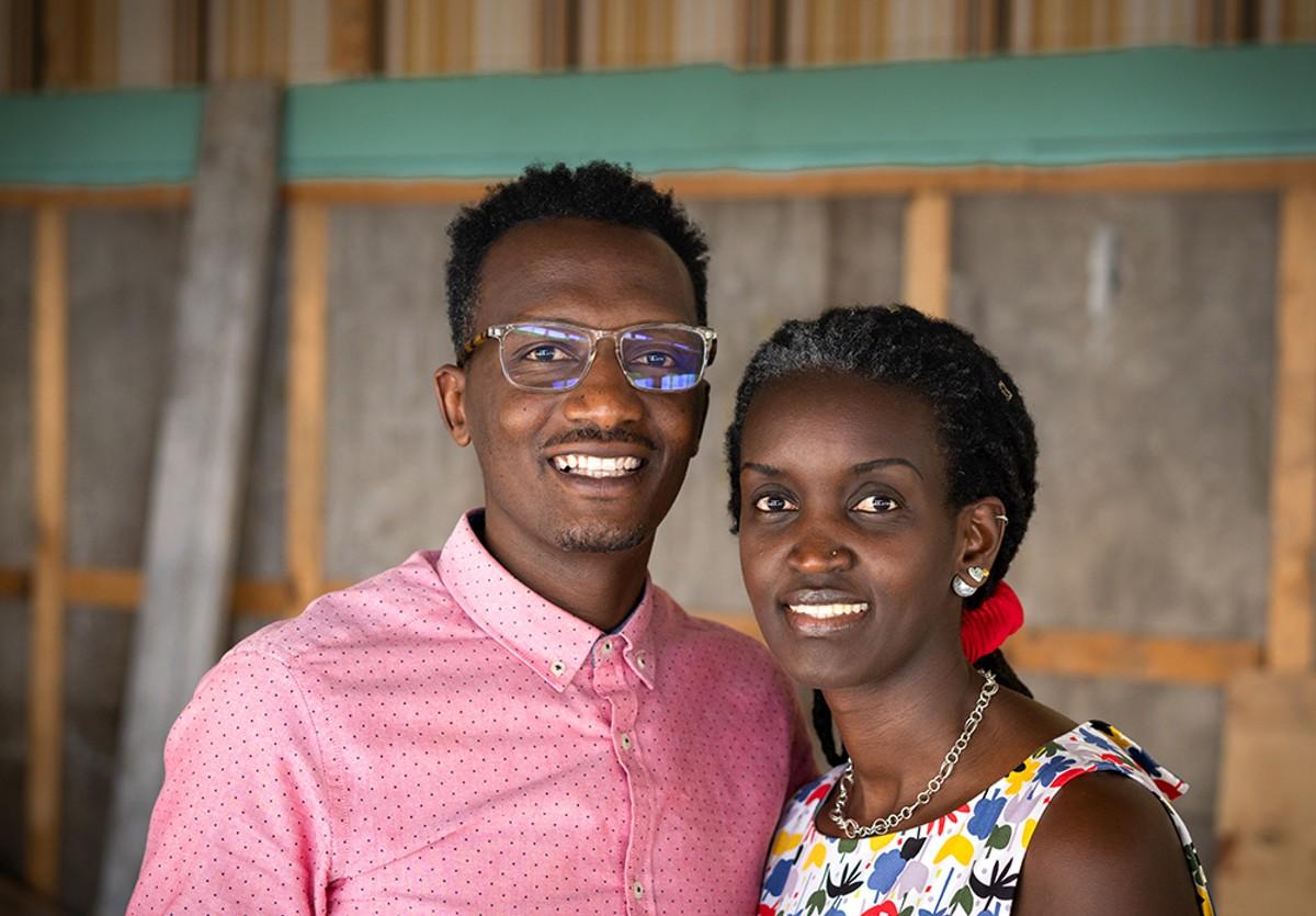 Mamba Hamissi and Nadia Nijimbere.