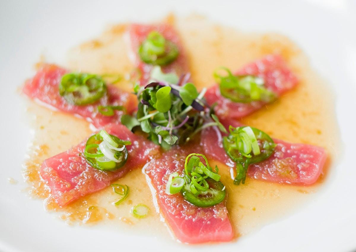 Tuna sashimi.