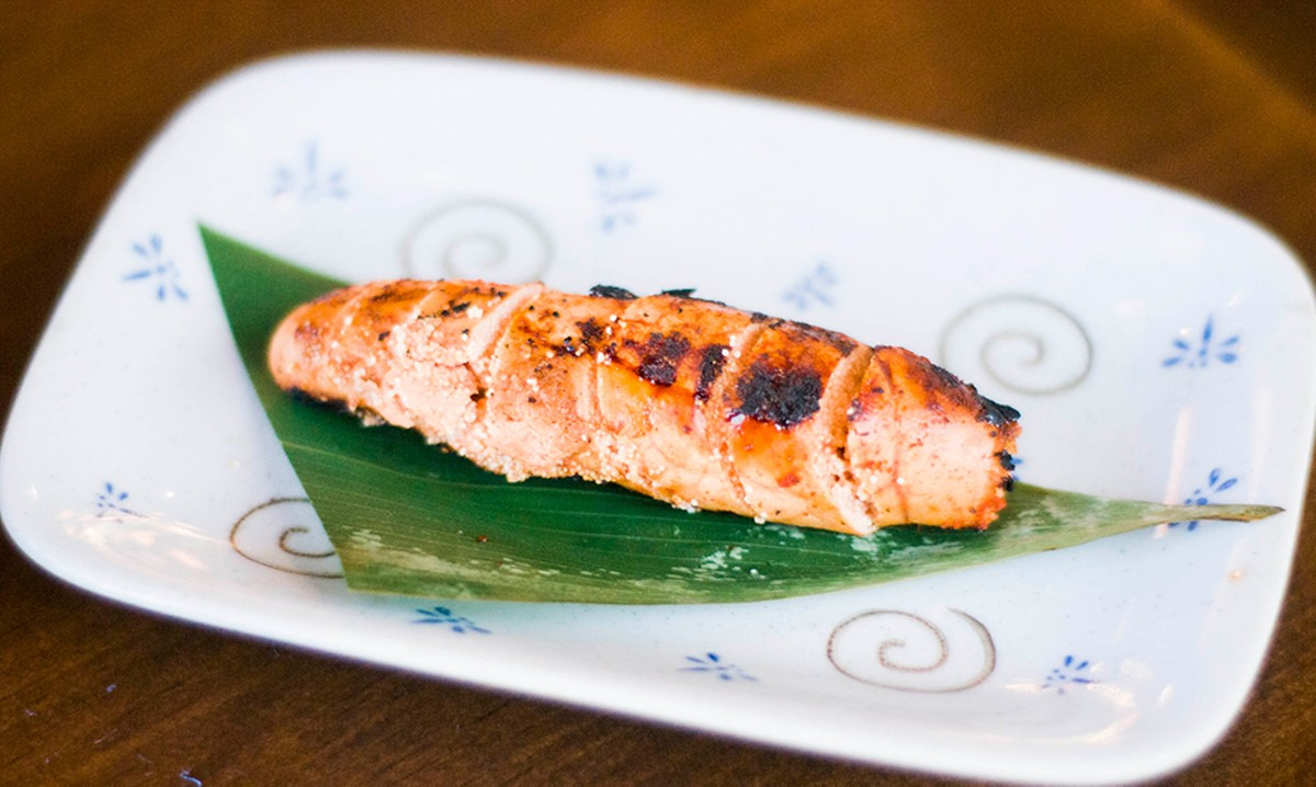 Oroshi mentaiko (grilled cod roe).