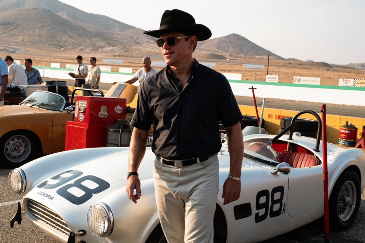 Matt Damon in Ford v Ferrari.