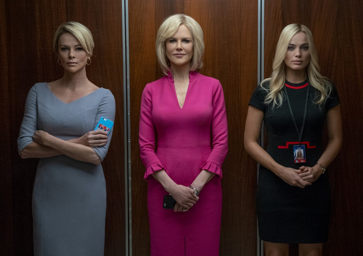 Blonde ambition: Charlize Theron as Megyn Kelly, Nicole Kidman as Gretchen Carlson, and Margot Robbie as Kayla Pospisil in Bombshell.