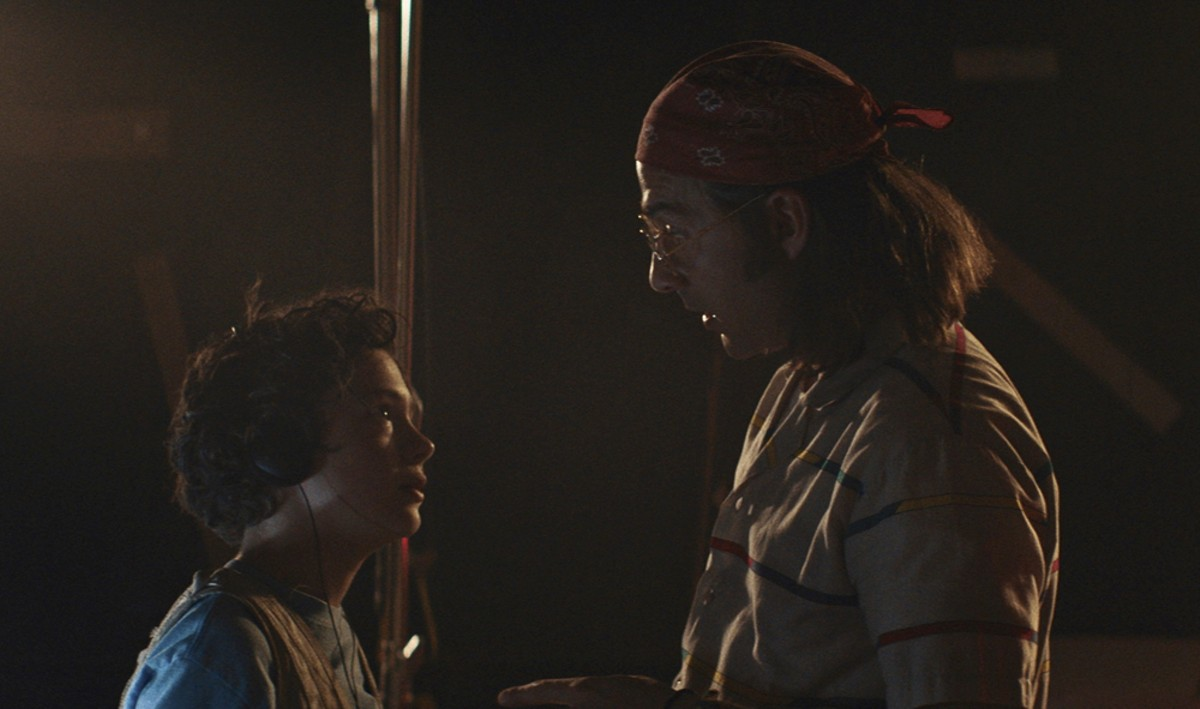Noah Jupe and Shia LaBeouf in Honey Boy.