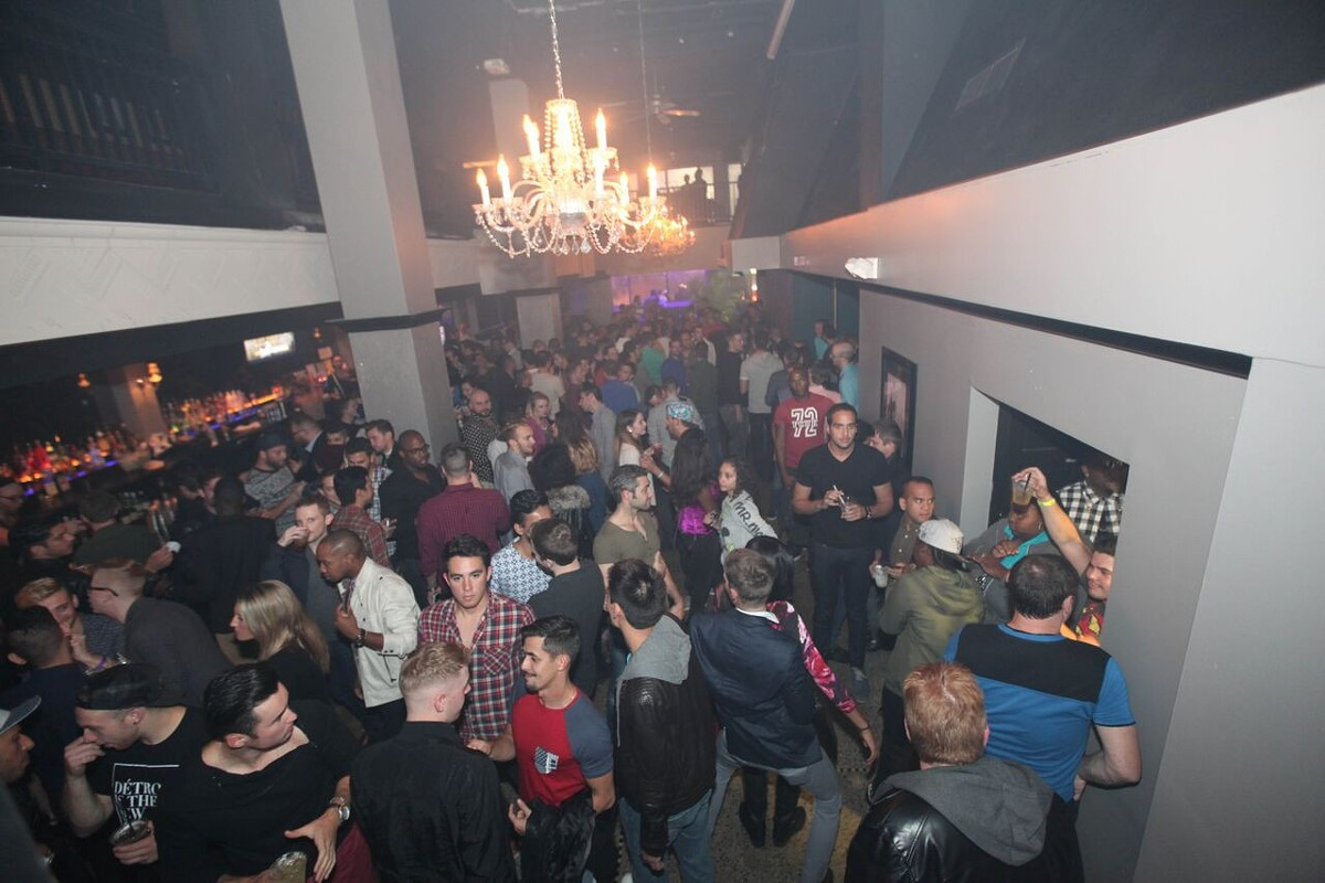 A scene from the opening party for downtown club Paris.