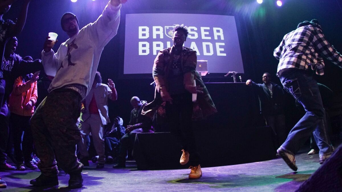 Danny Brown and the Bruiser Brigade at Detroit's Majestic Theatre, 2014.