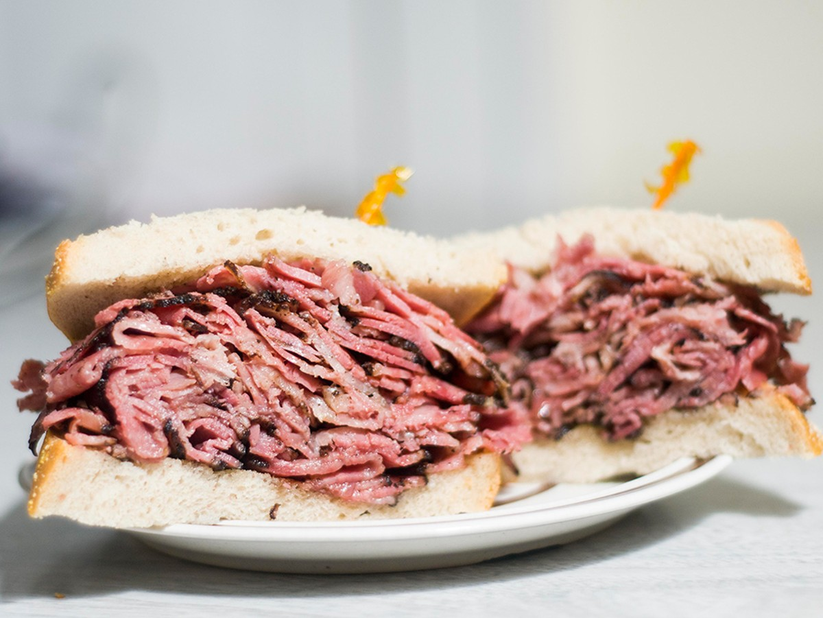 Val's sandwiches pack a lot of pastrami.