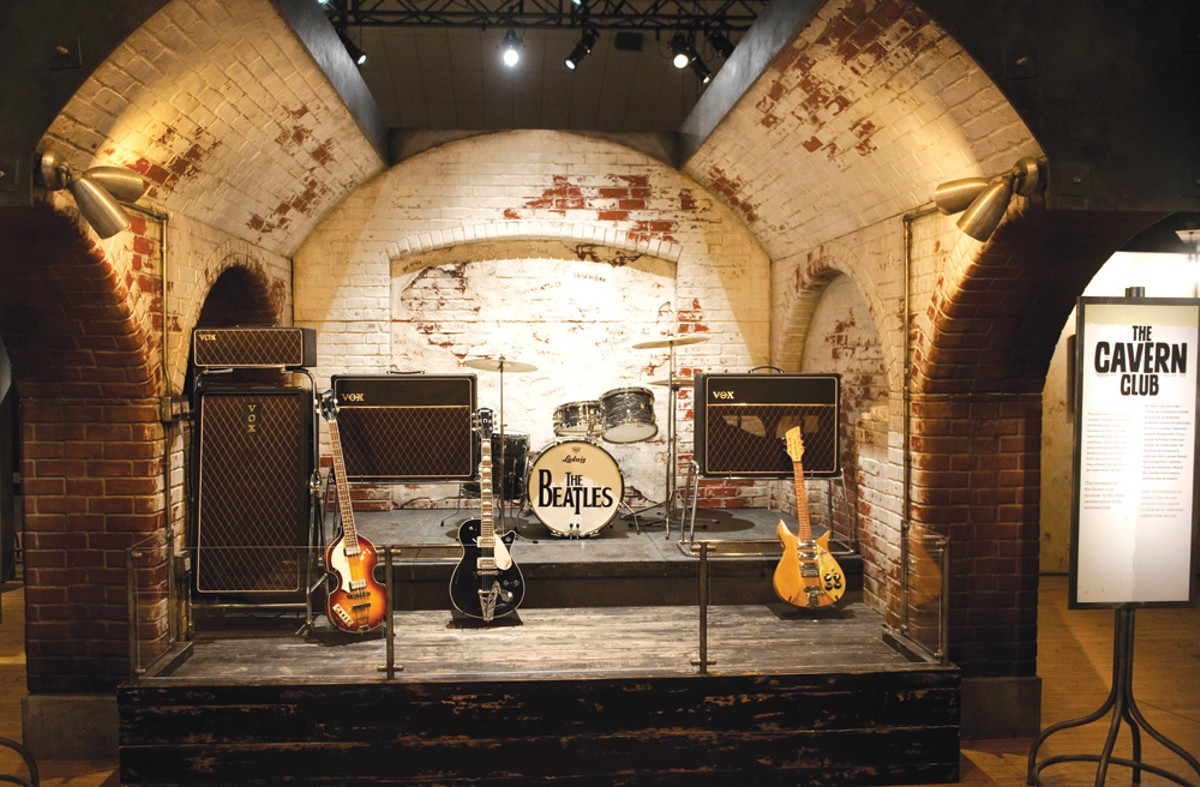 A re-creation of the Cavern Club.