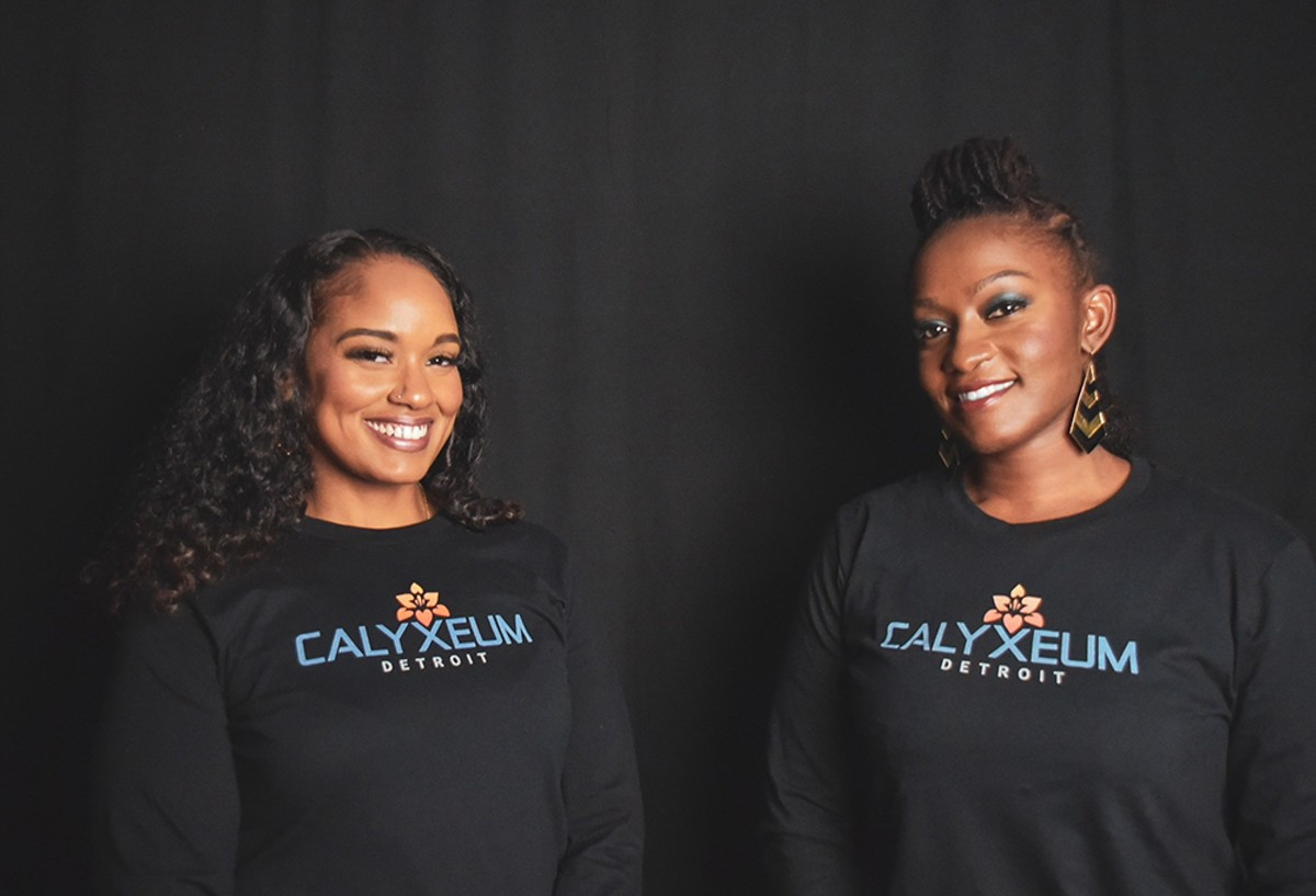 Rebecca Colett, CEO of Calyxeum and founder of the Detroit Cannabis Project, and LaToyia Rucker, COO of Calyxeum.