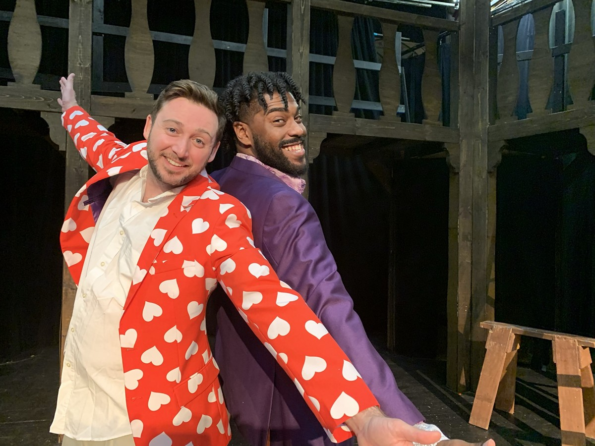 """Jesus (Kevin Kaminski) and Judas (Ryan Bowie) sing """"All For the Best"""" from the Birmingham Village Players production of Godspell."""