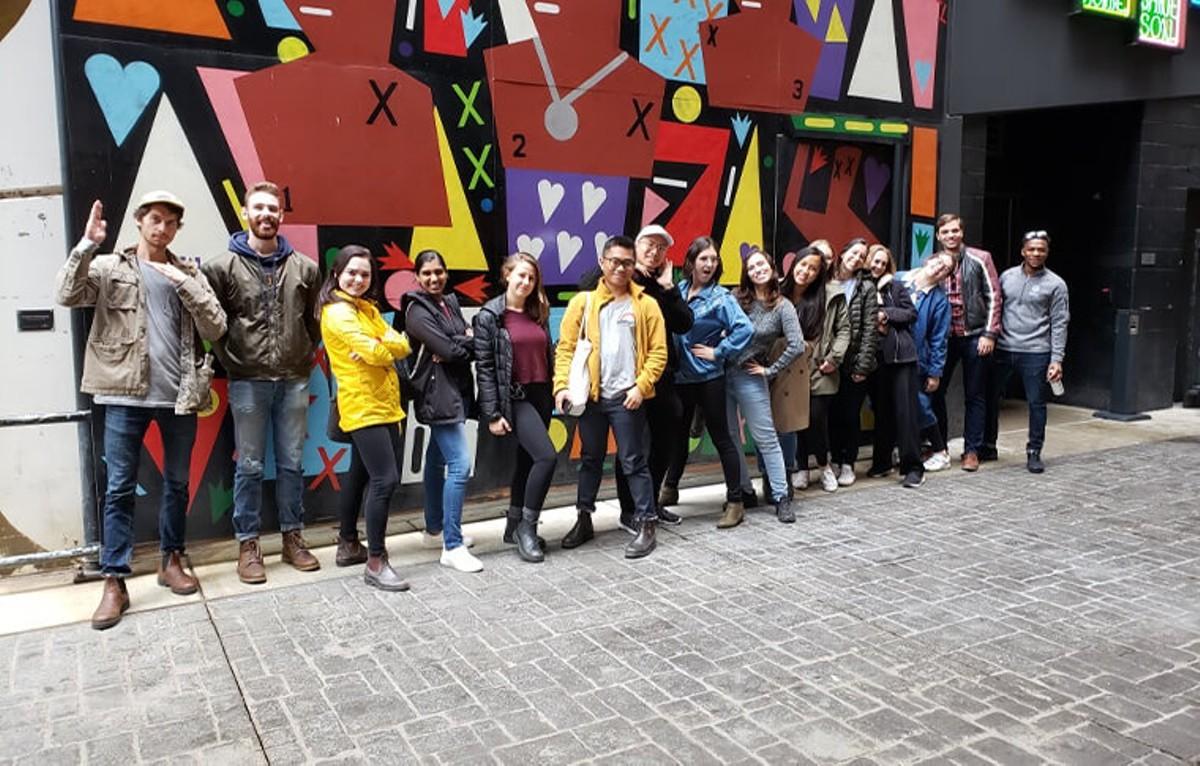 City Tour Detroit's guests enjoying Detroit's street art