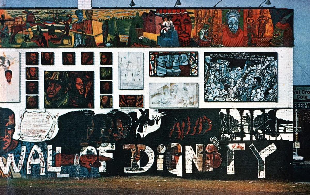 Bill Walker and Eugene [Eda] Wade, Wall of Dignity, 1968