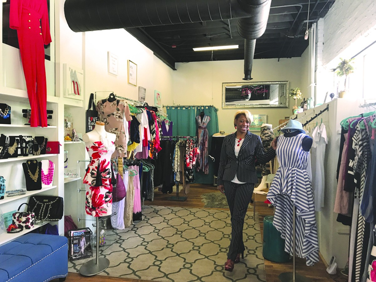 LaKeisha Solomon hand-selects each item sold at her Midtown boutique.