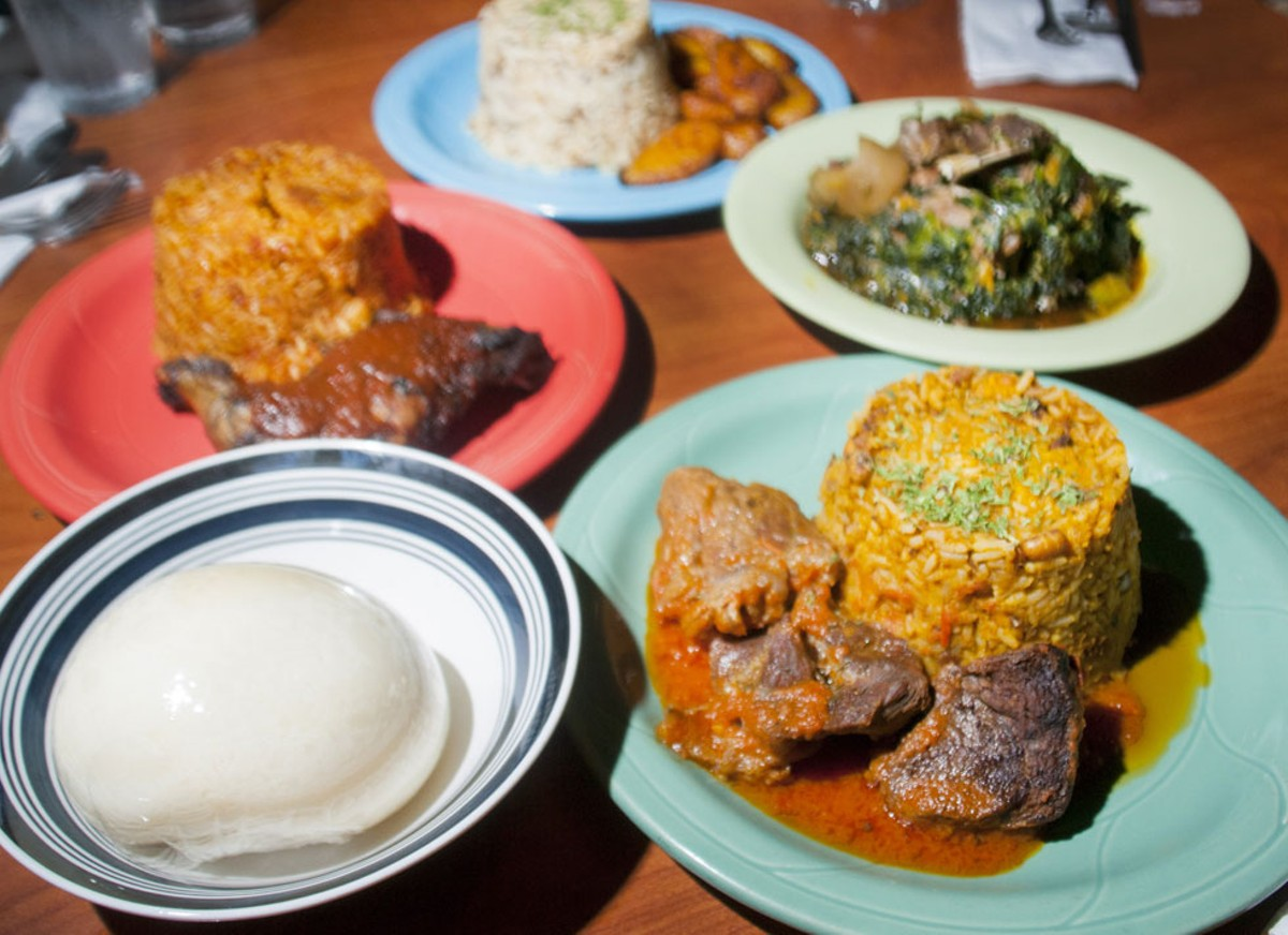 Dishes from Kola Restaurant and Ultra Lounge.