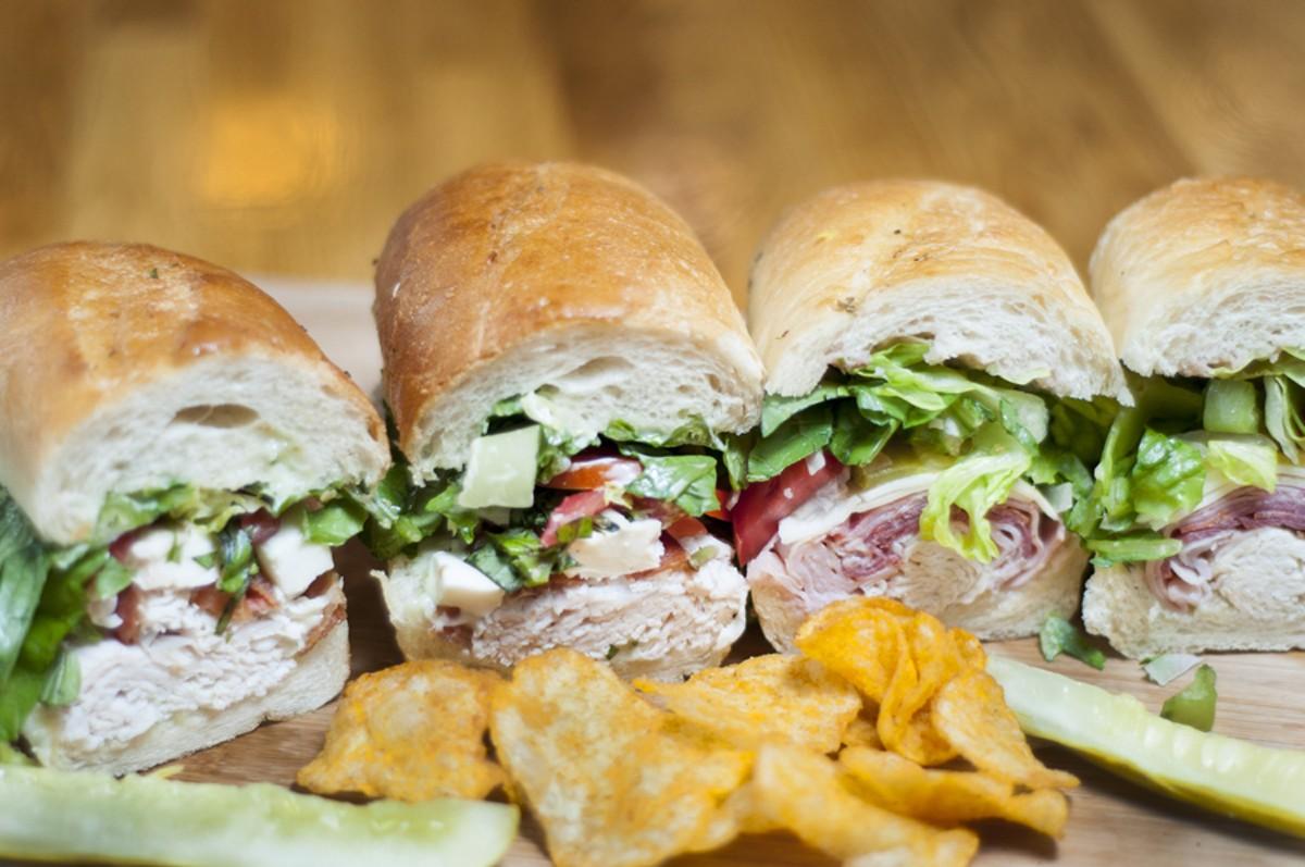 Italian and turkey sandwiches.