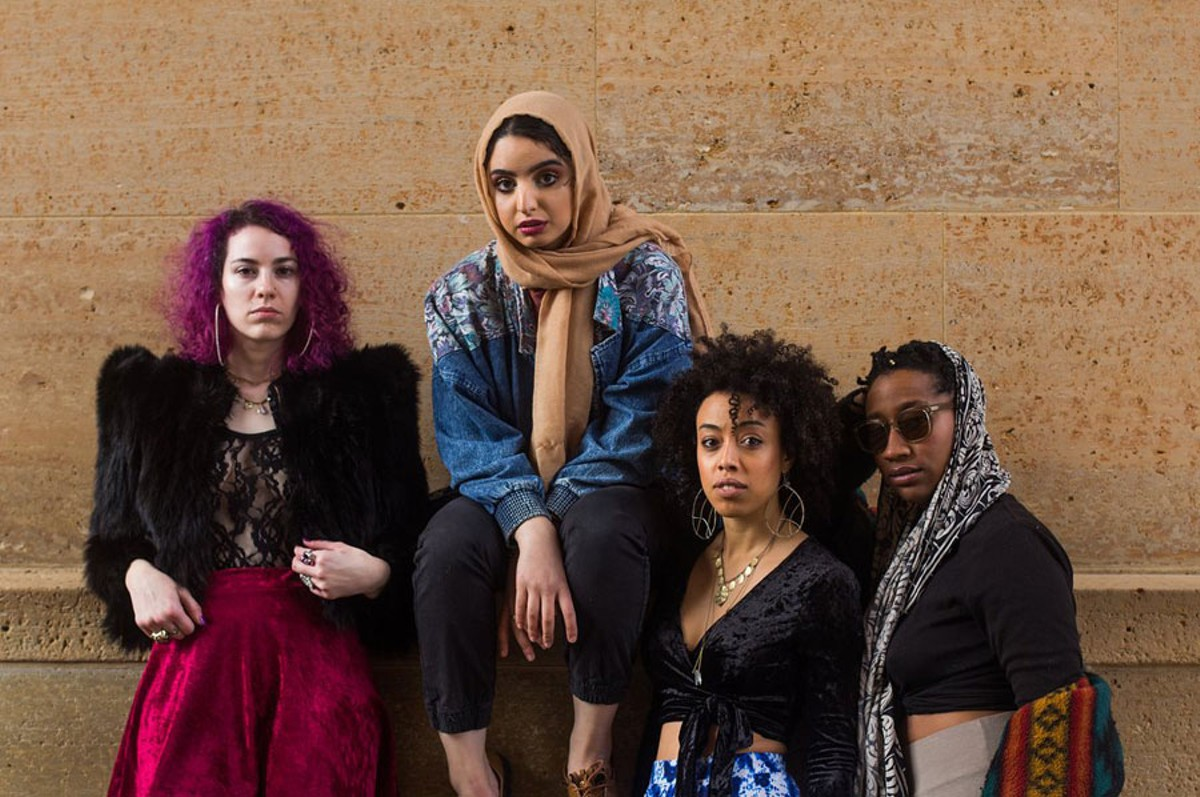 Art Babes members Callie Nazzpuller, Jannah Intifada, Olivia Guterson, and Bree Gant.