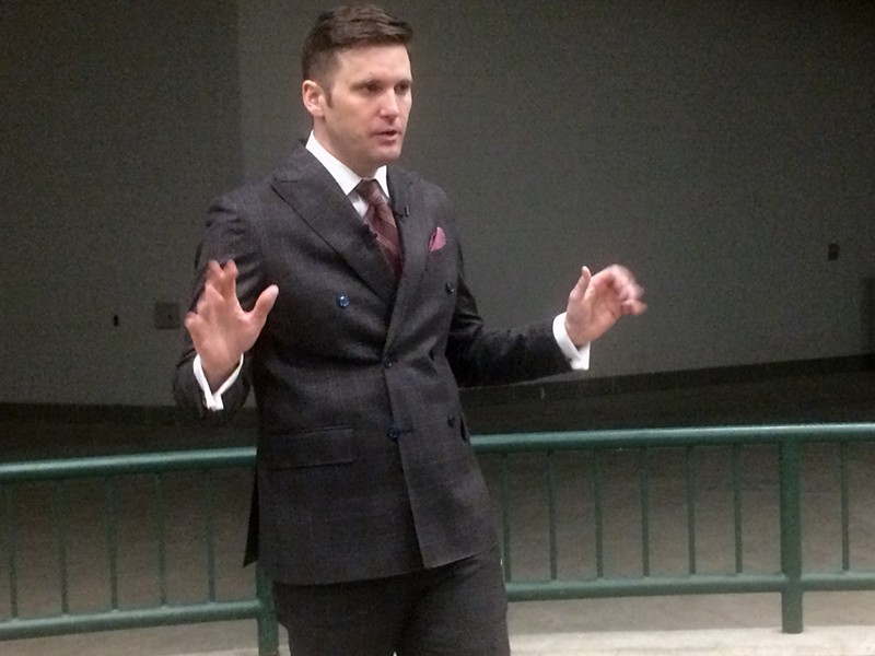 Richard Spencer speaking at MSU. - TOM PERKINS