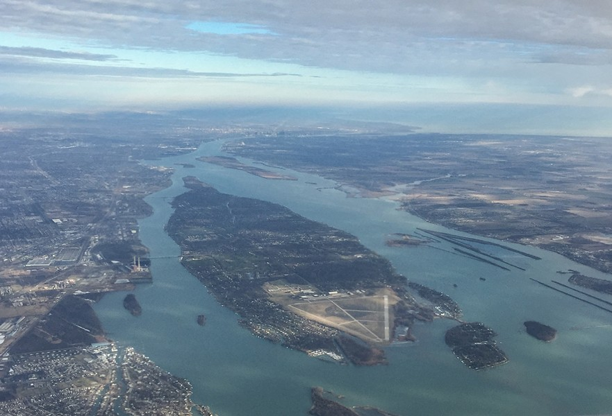 An aerial view of Grosse Ile. - WIKIPEDIA/TIM KISER
