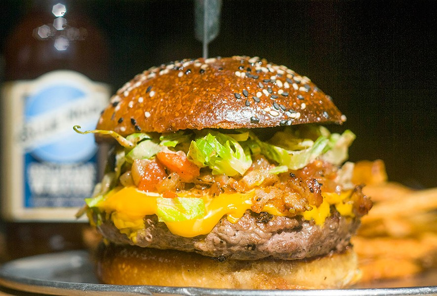 Cheeseburger from Rock City Eatery. - TOM PERKINS