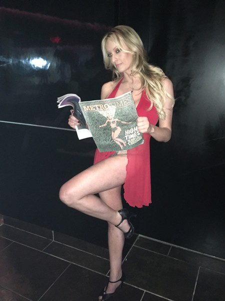 Stormy Daniels at Truth Gentleman's Club on Wednesday night. - LEE DEVITO