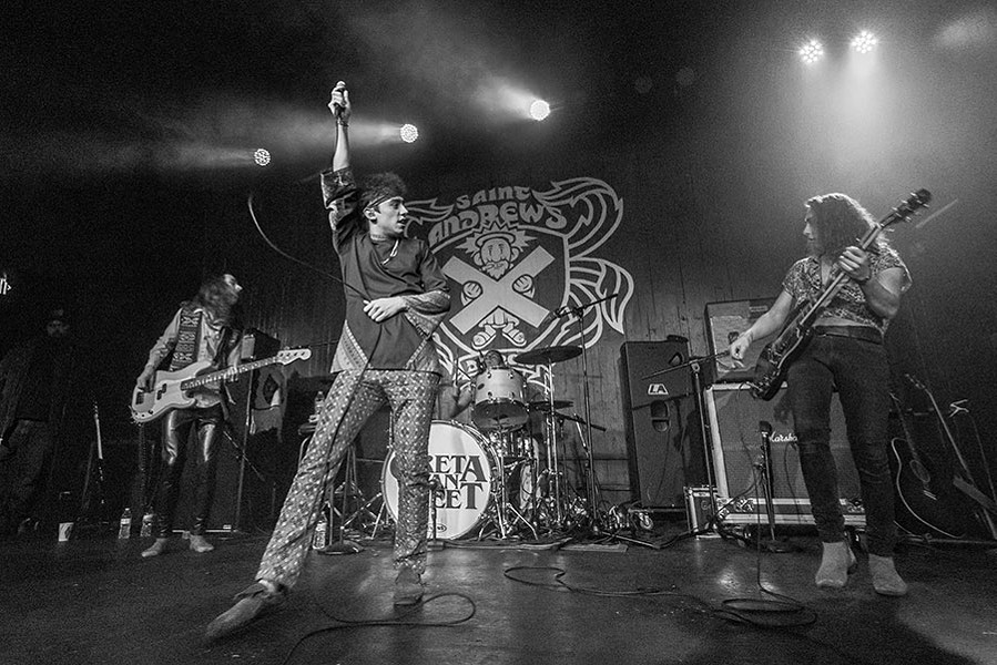Greta Van Fleet perform at Saint Andrew's Hall in 2017. - DOUG COOMBE