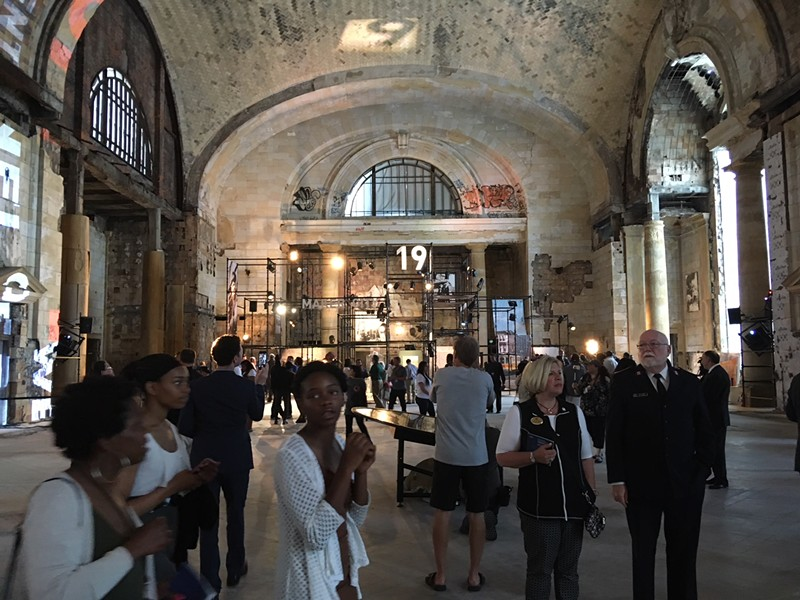 Guests were invited inside Michigan Central Station during Ford's celebration on Tuesday. An open house is available to the general public this weekend. - LEE DEVITO