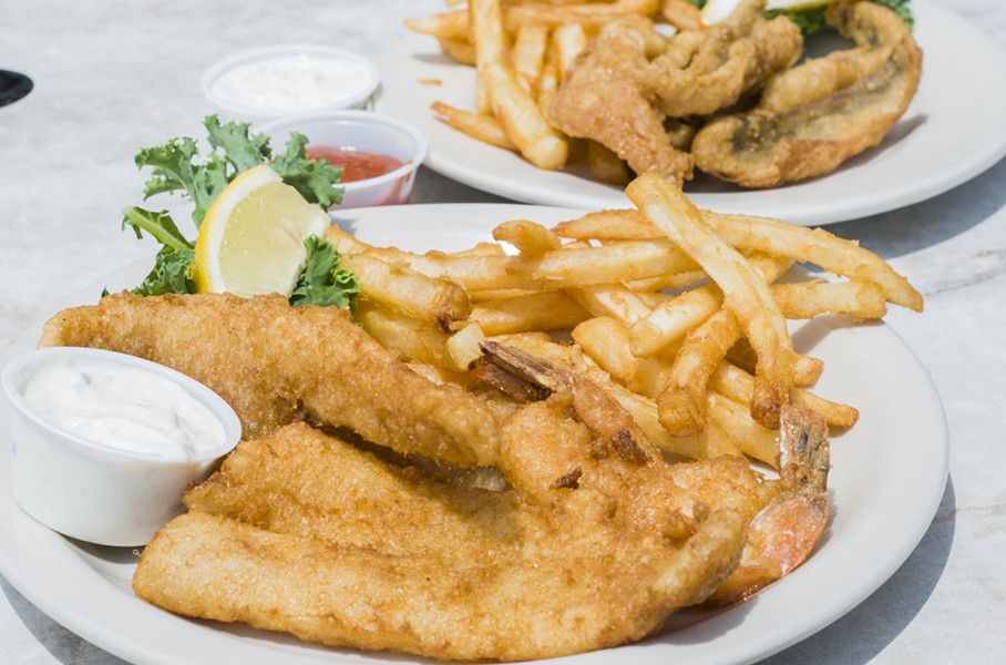 Fish and chips from Bobby Mac's in Anchor Bay. - TOM PERKINS