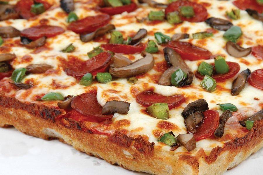 Square pizza from Green Lantern. - COURTESY PHOTO