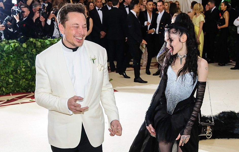 Elon Musk and the musician Grimes. - COURTESY PHOTO