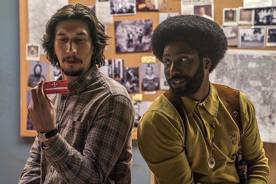 Adam Driver and John David Washington in BlacKkKlansman. - COURTESY PHOTO
